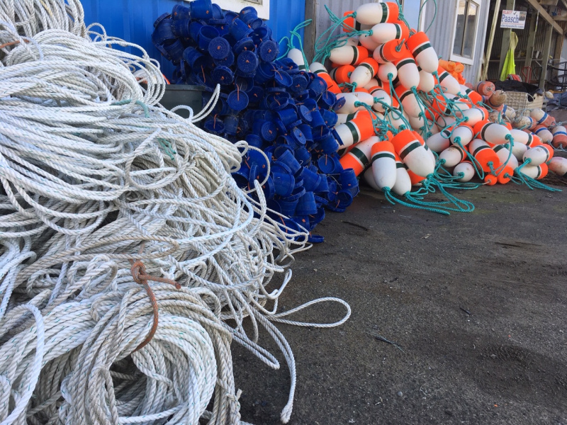 Putting together crab pots for Southern Oregon Crab season 2019