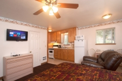 All motel suites feature apartment-like accommodations. Also included in the living area, a flat screen HD television/Roku player featuring FREE Netflix and more...