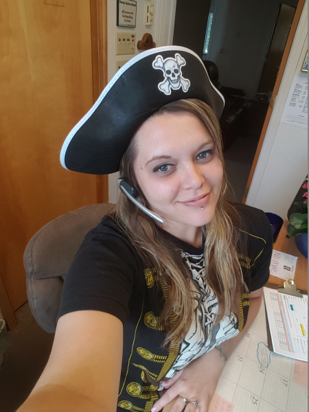Pirate Festival greeter, Sheena Catrina Placido