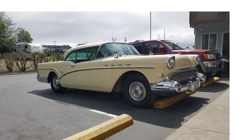 Guest drove their 1956 Buick all the way from Washington state to Ocean Suites Motel, Brookings Oregon
