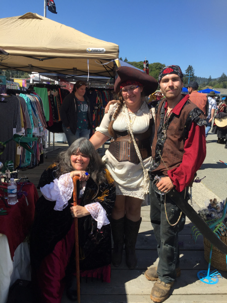 Pirate Festival August, 2016 | This guy hangs sheetrock. Port of Brookings Harbor, Oregon.