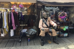Pirate Festival August, 2016   Booth displays weapons of choice, Port of Brookings-Harbor, Oregon
