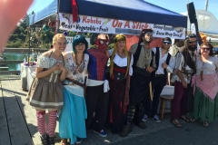 Pirate Festival 2016, booth at Port of Brookings Harbor boardwalk.