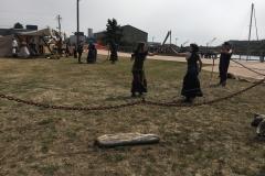 Pirate Festival 2016, Sword Fight at Port of Brookings Harbor boardwalk.