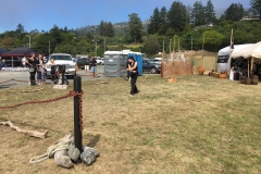 Pirate Festival August, 2016 | Bull-Whip demonstration, Port of Brookings Harbor, Oregon.
