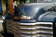 Old blue Chevy   Guests stayed at Ocean Suites Motel in Brookings Oregon, they participated in 2016 Azalea Parade and car show festival.