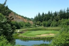 Salmon Run Golf Course | 3-1/2 miles up South Bank Chetco River Rd. from Ocean Suites Motel, Brookings, Oregon