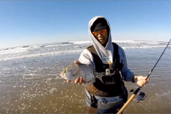 Fishing for Perch from Sporthaven Beach | Short walk from Ocean Suites Motel, Brookings, OR